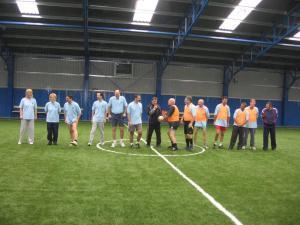önkormányzat-tanár foci